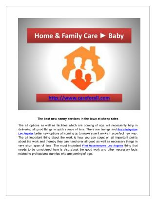 find a nanny Los Angeles