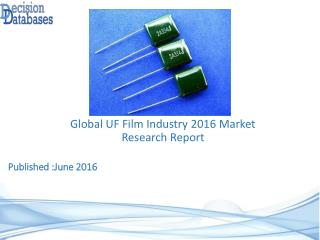 Global UF Film Market 2016: Industry Trends and Analysis
