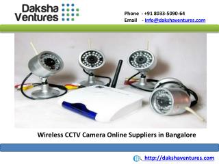 Wireless CCTV Camera Online Suppliers in Bangalore