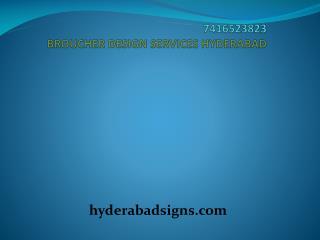 Broucher design services in Hyderabad