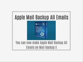 Apple Mail Backup All Emails