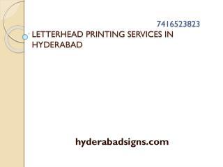 Letterhead Printing in Hyderabad