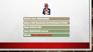 Cash Cash Cars Offers Cash For Car In Los Angeles And Surrounding Area