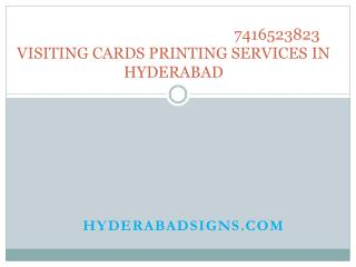 Visiting Cards Printing in Hyderabad