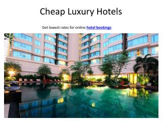 Cheap hotel deals & accommodation rates around the world - Compare, book & save