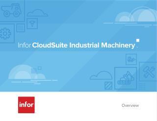 InforCloudSuite Industrial Machinery