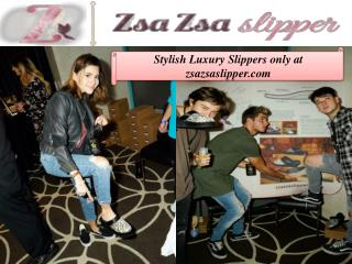 Stylish Luxury Slippers only at zsazsaslipper.com