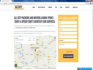 Packers and Movers in Aundh (Pune) - All City Packers and Movers®