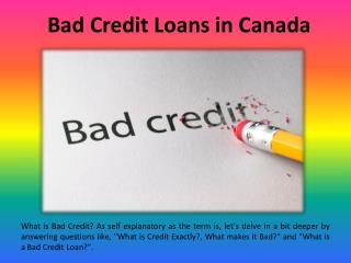 Bad Credit Loans in Canada