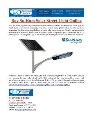 Buy Su-Kam Solar Street Light Online
