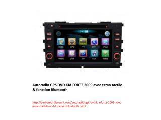 Autoradio GPS DVD KIA FORTE 2009 avec ecran tactile & fonction Bluetooth
