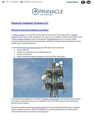 Wireless Network Solutions Dubai | Pinnacle Computer Systems