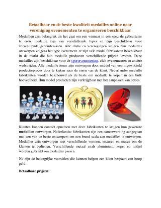 Betaalbaar en de beste kwaliteit medailles online naar vereniging evenementen te organiseren beschikbaar