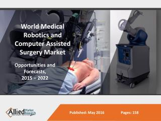 2022 Surgical Robotics and Computer Assisted Market