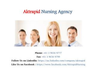Reliable Aged Care Nursing Agency in Melbourne