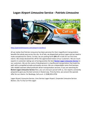 Logan Airport Limousine Service - Patriots Limousine