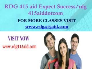 RDG 415 aid Expect Success/rdg415aiddotcom