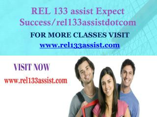 REL 133 assist Expect Success/rel133assistdotcom
