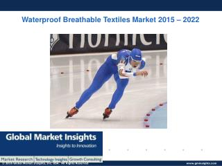 Waterproof Breathable Textiles Market size over $2 Billion by 2022: Global Market Insights, Inc.