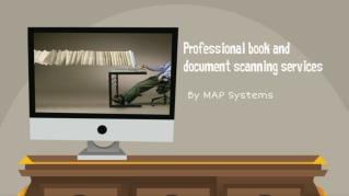 Book and document scanning services