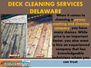 Deck Cleaning Services in Delaware