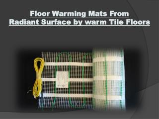 Heated Tile Floors
