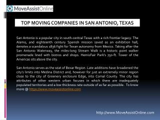 List of Best Moving Companies in San Antonio, Texas