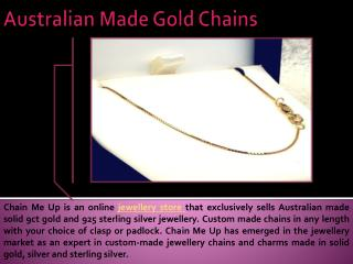 Australian Made Gold Chains
