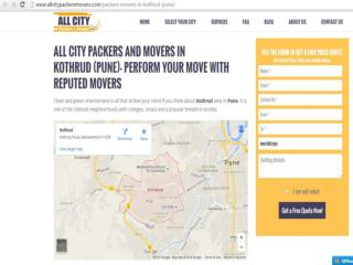 Packers and Movers in Kothrud (Pune) - All City Packers and Movers®