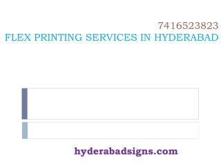 Flex printing services in Hyderabad