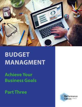 BUDGET MANAGMENT: Achieve Your Business Goals Part Three