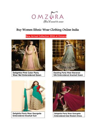 Omzara ethnic wear clothing for women in india usa canada