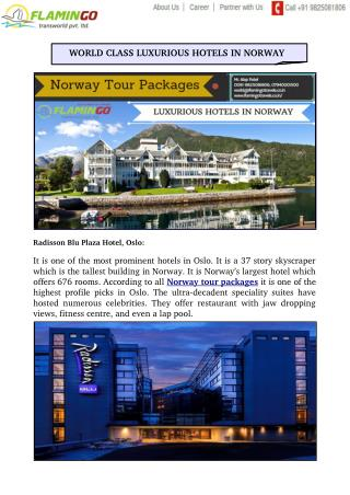 WORLD CLASS LUXURIOUS HOTELS IN NORWAY