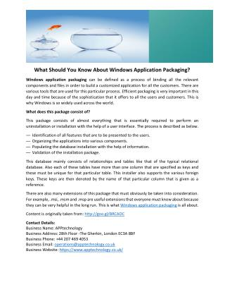 What Should You Know About Windows Application Packaging?