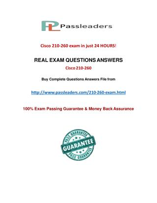 Passleader 210-260 Braindumps