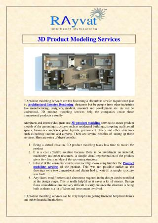 3D Product Modeling Services