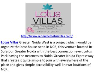 Lotus villas Noida Extension