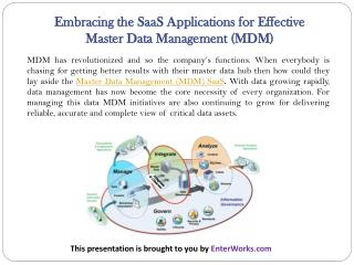 Embracing the SaaS Applications for Effective Master Data Management (MDM)