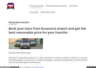 Morocco airport transfer