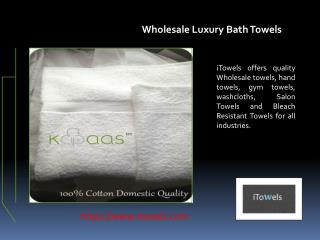 Wholesale Luxury Bath Towels
