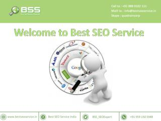 Welcome to Best SEO Service in Bangalore