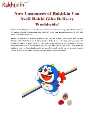 Now Customers of Rakhi.in Can Avail Rakhi Gifts Delivery Worldwide!
