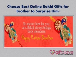 Choose Best Online Rakhi Gifts for Brother to Surprise Him!
