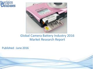 Worldwide Camera Battery Industry- Size, Share and Market Forecasts 2021