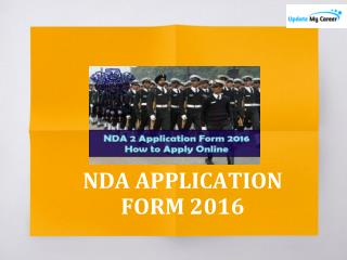 NDA APPLICATION FORM 2016