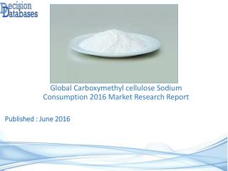 Carboxymethyl Cellulose Sodium Consumption Market Analysis 2016 Development Trends