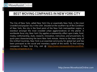Find Moving Companies in New York City