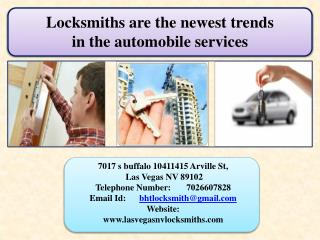 Locksmiths are the newest trends  in the automobile services