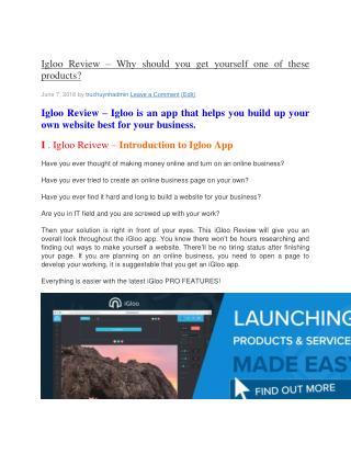 Ebook Igloo App Review
