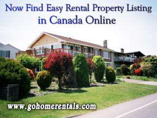 Now Find Easy Rental Property Listing in Canada Online